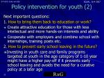 policy intervention for youth 2
