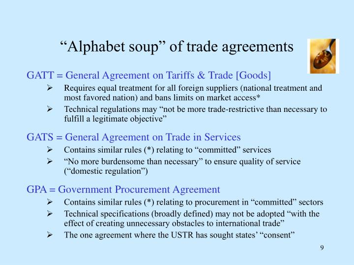 General Agreement On Tariffs And Trade Objectives Gallery
