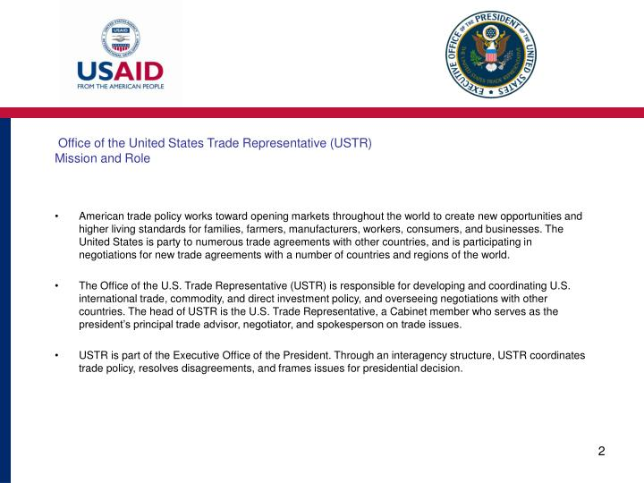 Office of the united states trade representative ustr mission and role