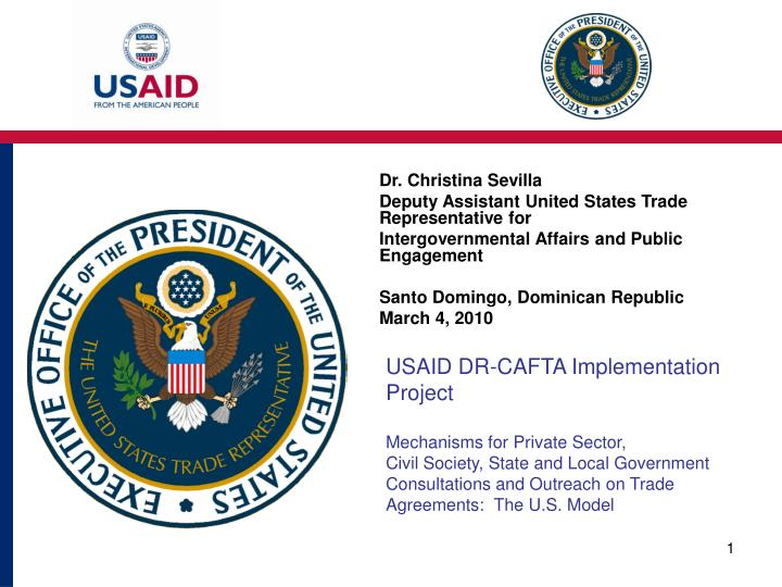 USAID DR-CAFTA Implementation Project