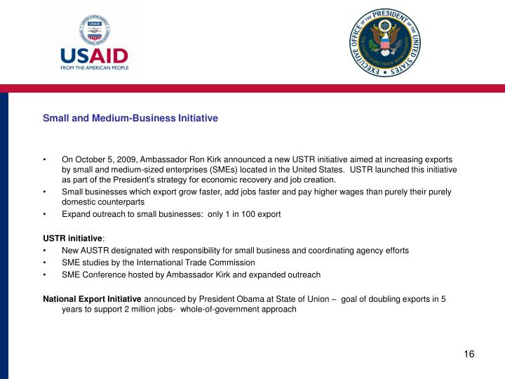 Small and Medium-Business Initiative