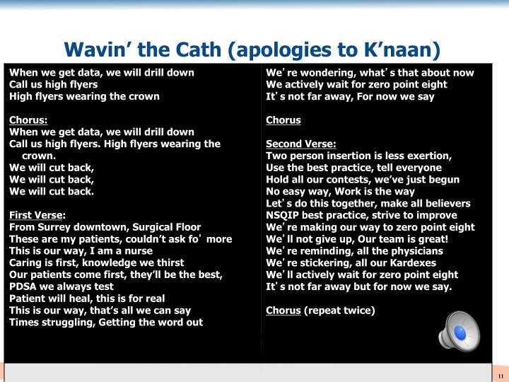 Wavin' the Cath (apologies to K'naan)