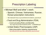 prescription labeling