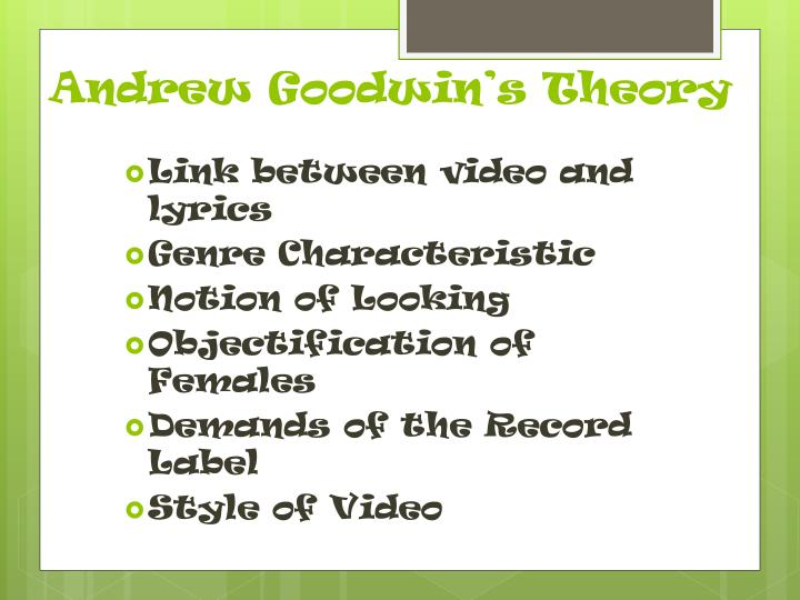 Andrew goodwin s theory