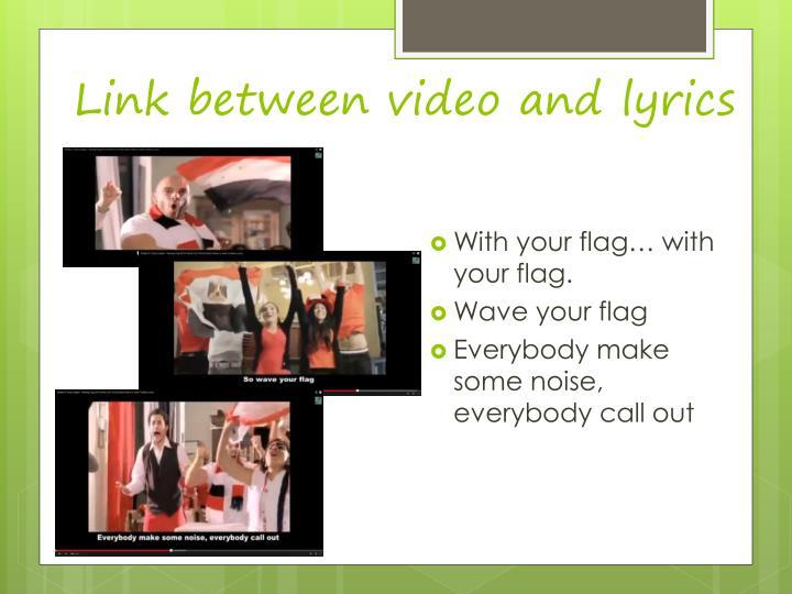 Link between video and lyrics