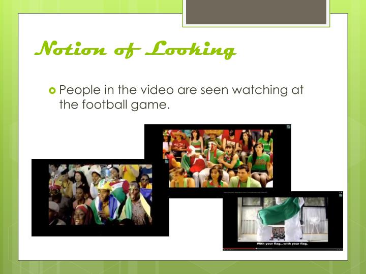 Notion of Looking
