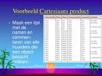 voorbeeld cartesiaans product