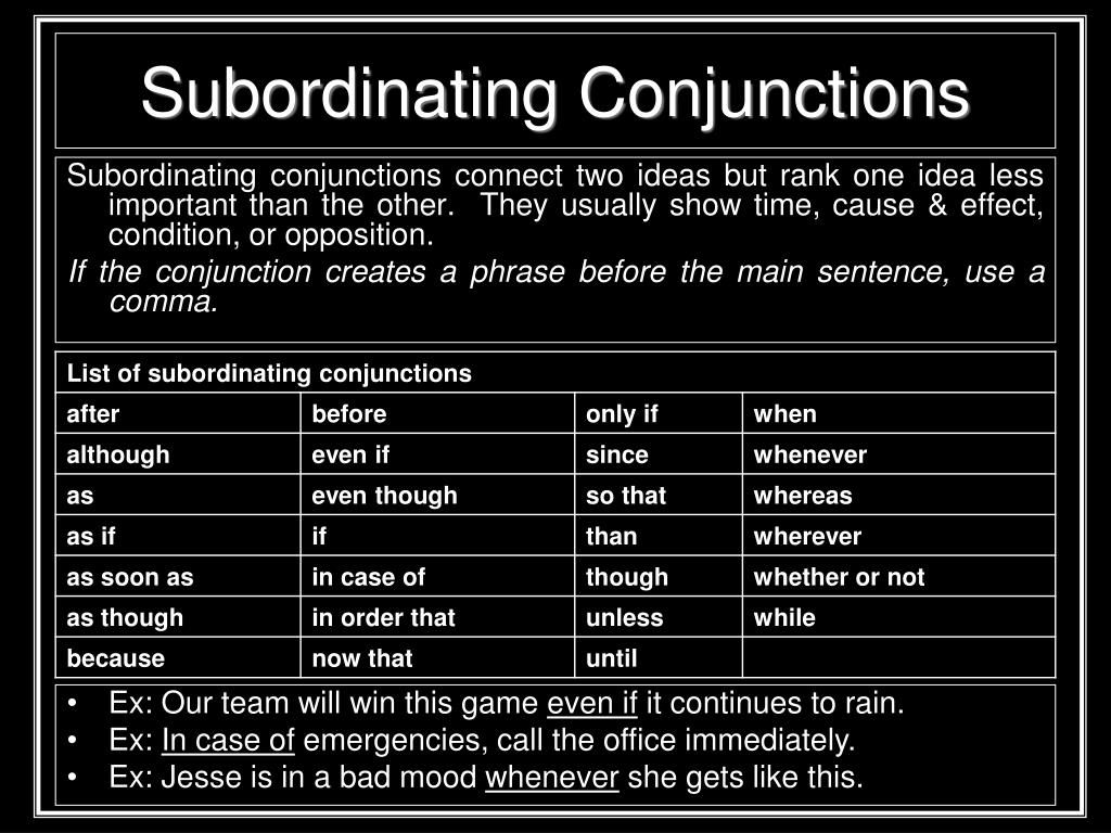 PPT - Conjunctions and Interjections PowerPoint Presentation