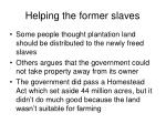 helping the former slaves1