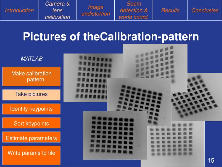 Pictures of theCalibration-pattern
