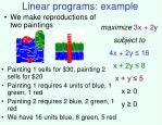 linear programs example