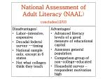 national assessment of adult literacy naal concludes12 03