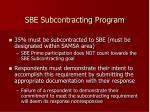 sbe subcontracting program