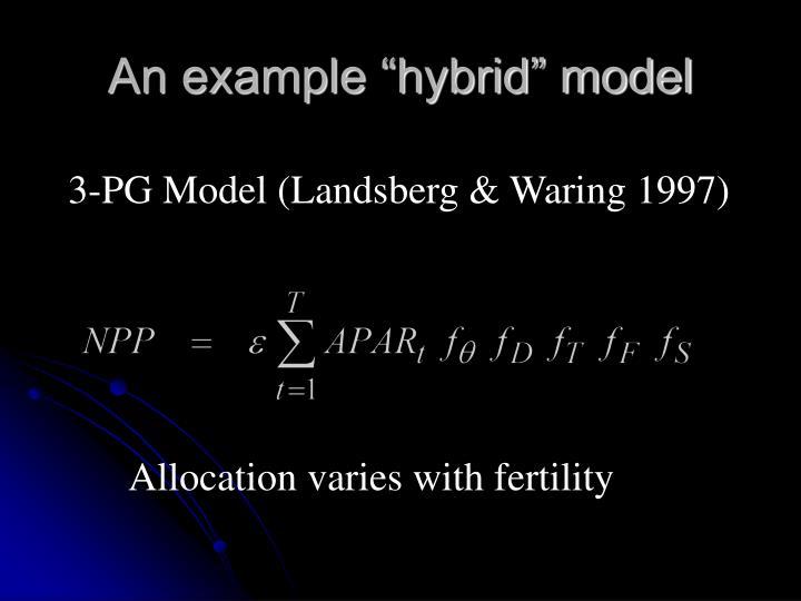 "An example ""hybrid"" model"