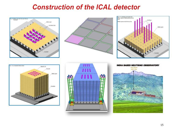Construction of the ICAL detector