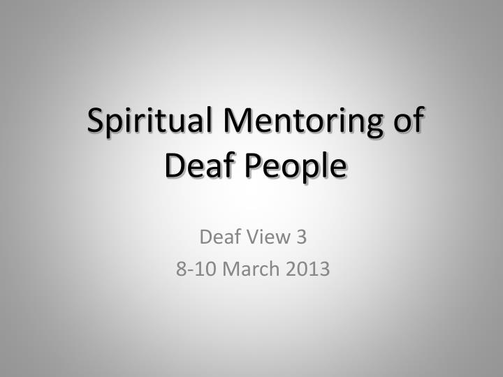 spiritual mentoring report This book offers practical guidance that will equip for the task of mentoring others and guiding them on their journey towards maturity in christ it focuses on the do's and don't's of mentoring, saving the reader from making common mistakes, and provides a strong framework for effective mentoring.