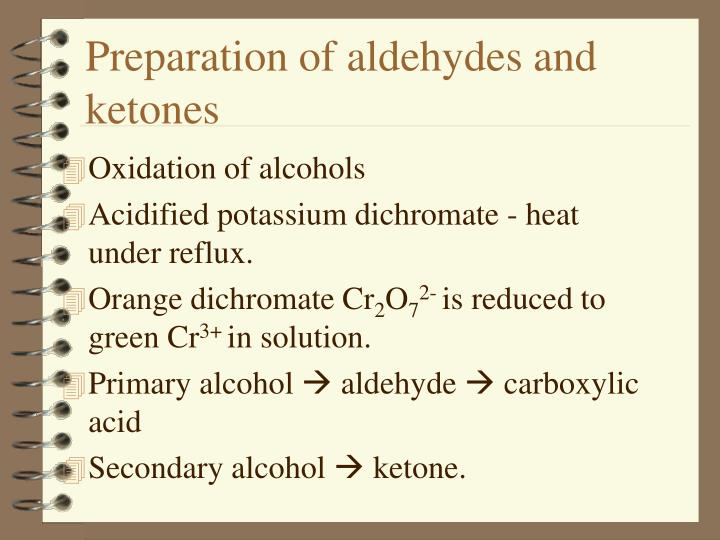 Preparation of aldehydes and ketones