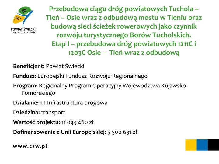Przebudowa ciągu dróg powiatowych Tuchola