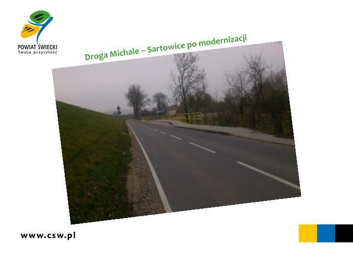 Droga Michale – Sartowice po modernizacji