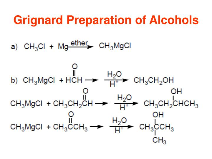 Grignard Preparation of Alcohols