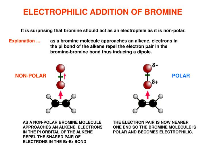 ELECTROPHILIC ADDITION OF BROMINE