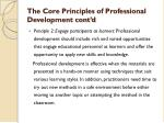 the core principles of professional development cont d