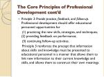 the core principles of professional development cont d1