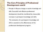 the core principles of professional development cont d2