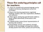 these five enduring principles call for teachers