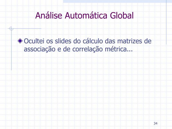 Análise Automática Global