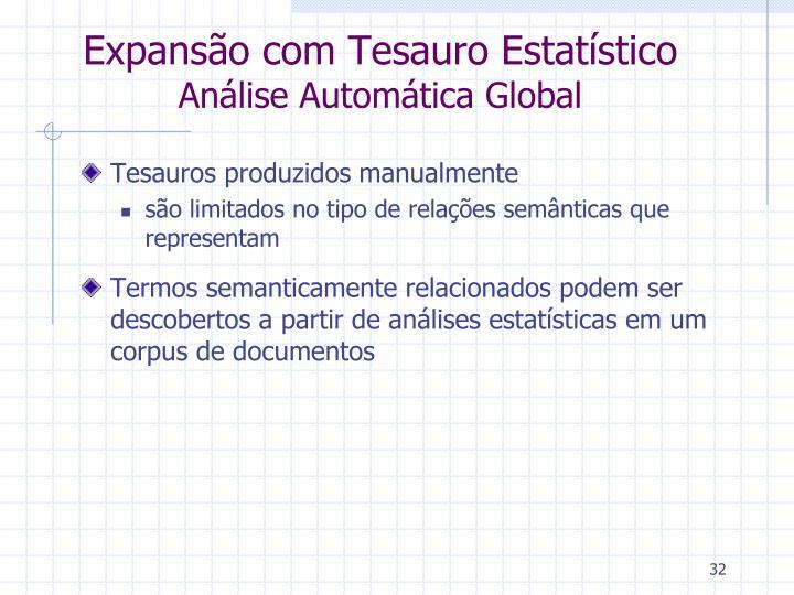 Expansão com Tesauro Estatístico