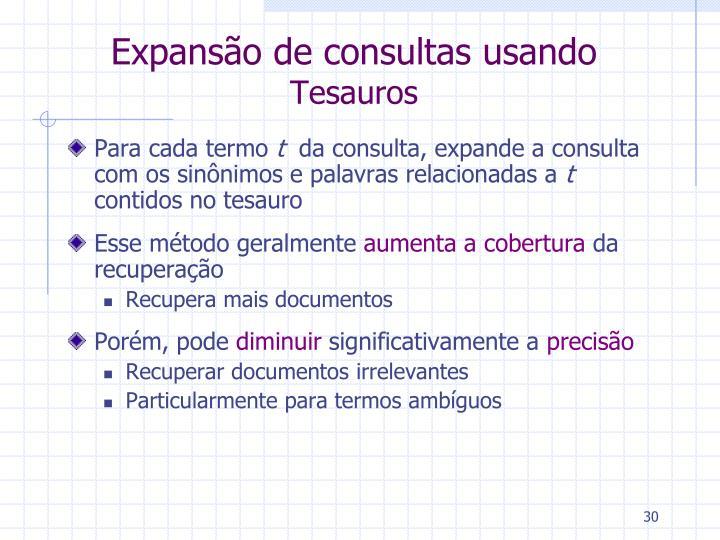 Expansão de consultas usando