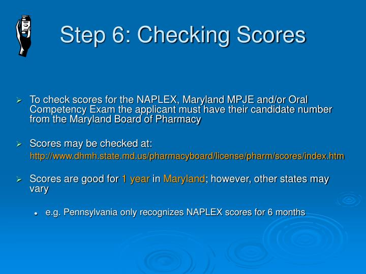Step 6: Checking Scores
