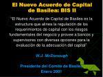 el nuevo acuerdo de capital d e basilea bis i i