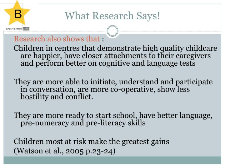 What Research Says!