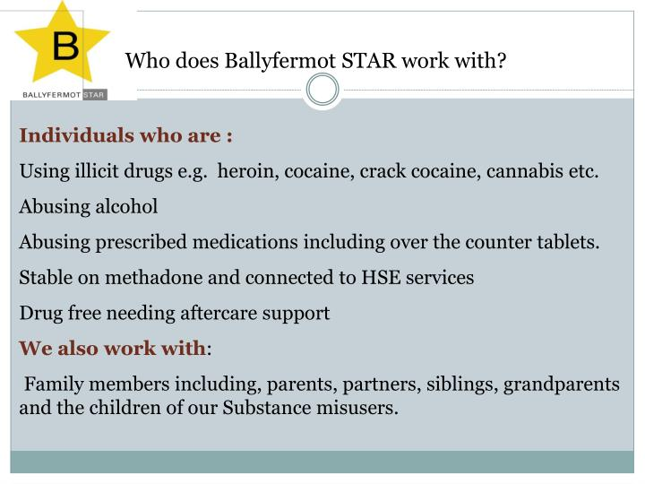 Who does ballyfermot star work with