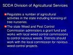 sdda division of agricultural services