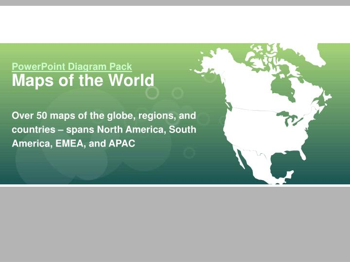 PPT PowerPoint Diagram Pack Maps Of The World PowerPoint
