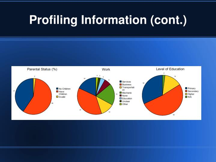 Profiling Information (cont.)