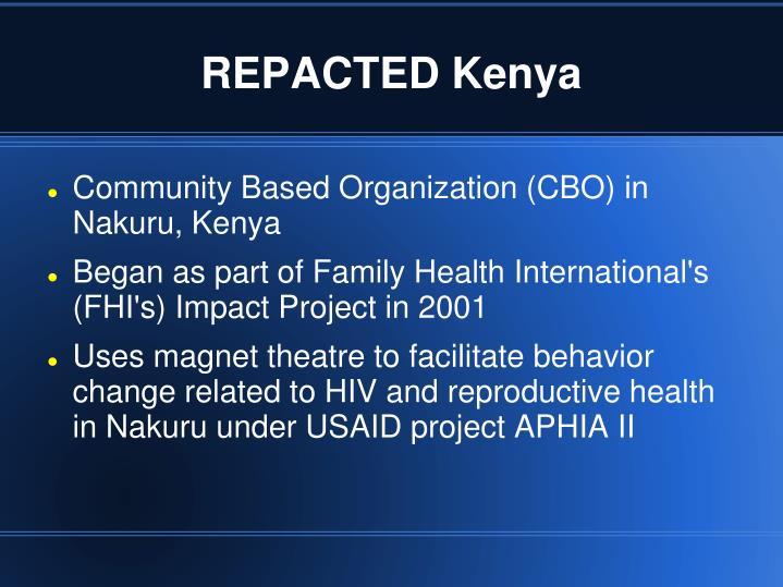 Repacted kenya