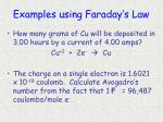 examples using faraday s law