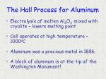 the hall process for aluminum