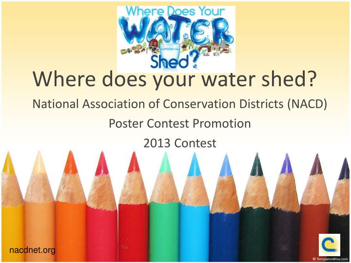 where does your water shed n.