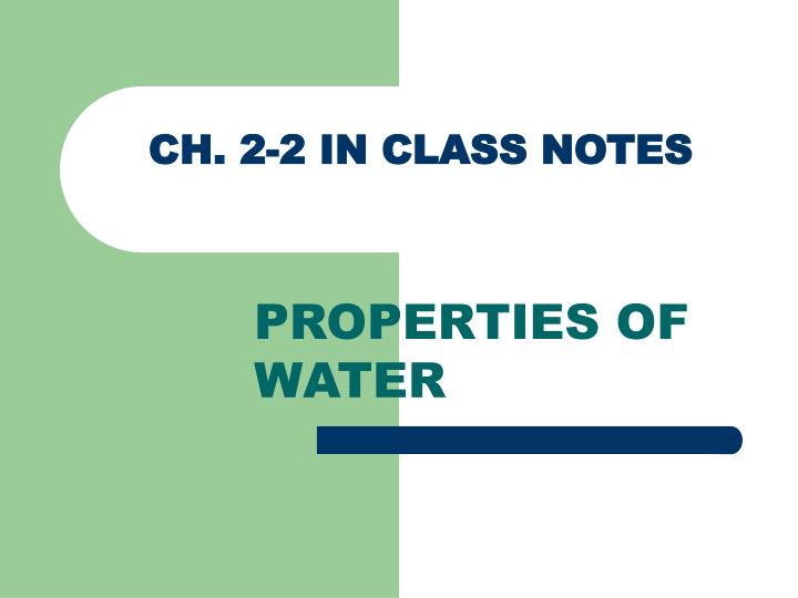 section 1 class notes