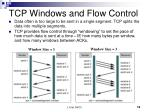tcp windows and flow control