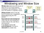 windowing and window size