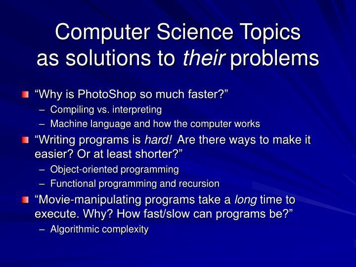 Computer Science Topics