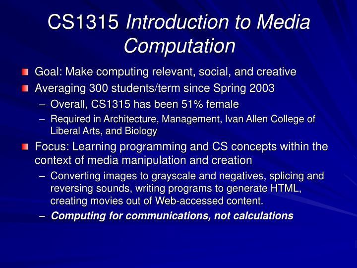 CS1315