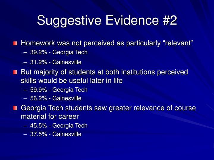 Suggestive Evidence #2