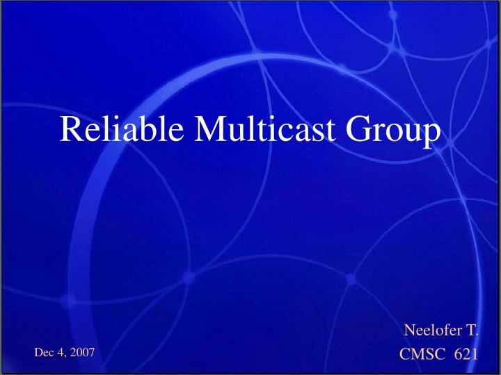 reliable multicast group n.